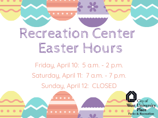 Rec Center Easter Hours