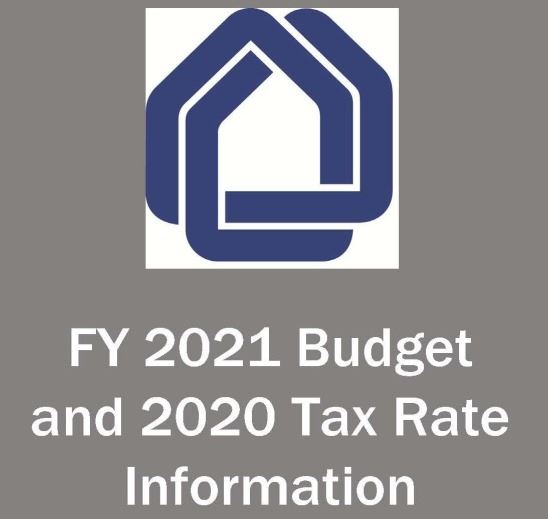 FY 2021 Budget and 2020 Tax Rate Information 1
